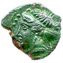 Obverse: Head of Nymph left