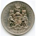 Reverse: Crowned coat of arms of Canada